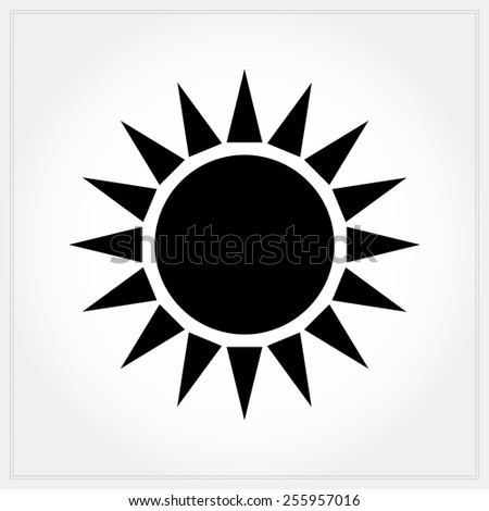 bright sun icon - stock vector
