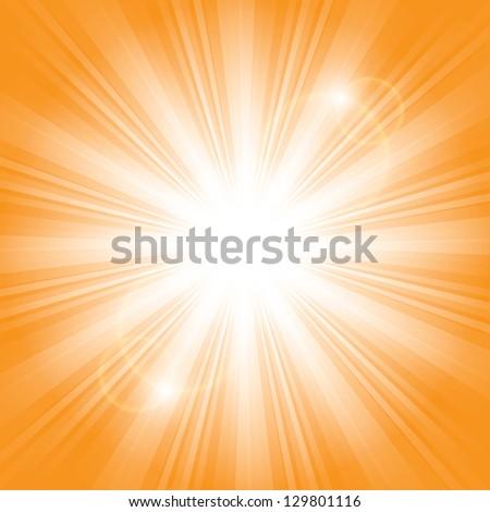 bright sunlight. vector background. eps10 - stock vector