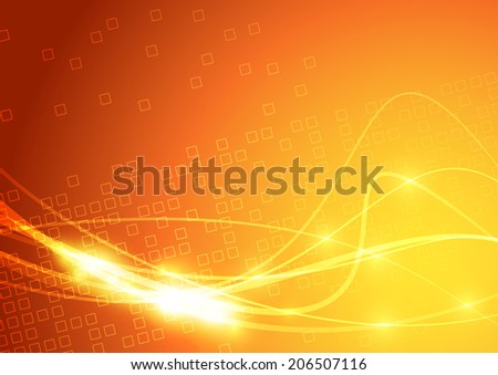 Bright swoosh lines sparkling background. Vector illustration - stock vector