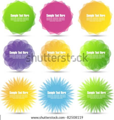 bright tags and badges - stock vector