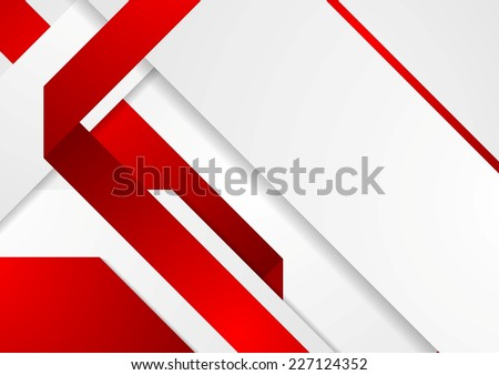 Bright tech corporate red and white background. Vector design - stock vector