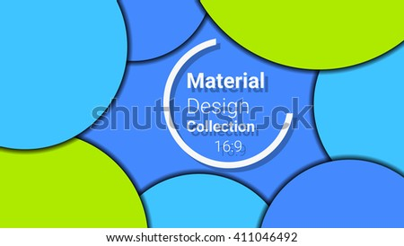 bright template for presentation in 16:9 format. vector illustration. designed for business background, education, web, brochure. abstract creative concept layout template in blue, green colors. - stock vector