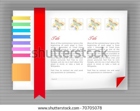 bright template site, blog vector