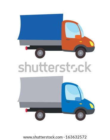 bright truck car in cartoon style vector
