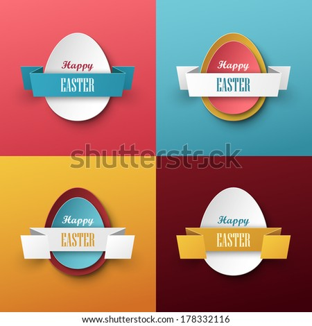 Bright vector easter background - stock vector