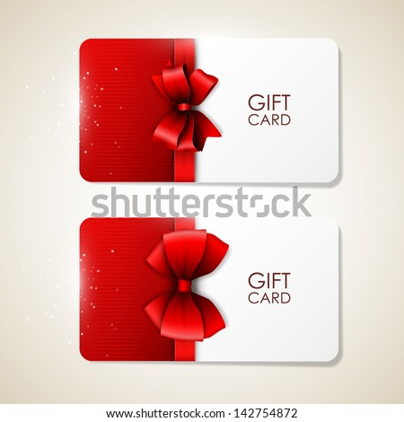 Bright vector gift cards - stock vector