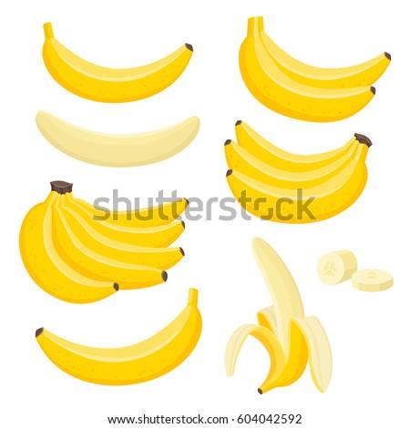 Cartoon banana bunch