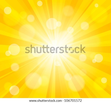 Bright vector sun effect background - stock vector