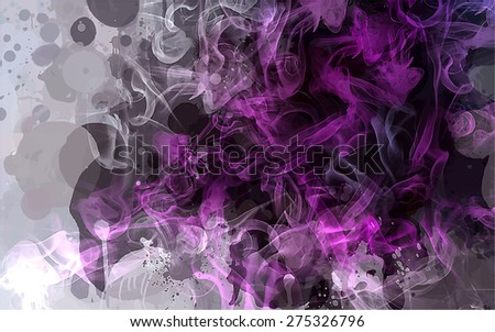 Bright violet smoke background. Vector version - stock vector