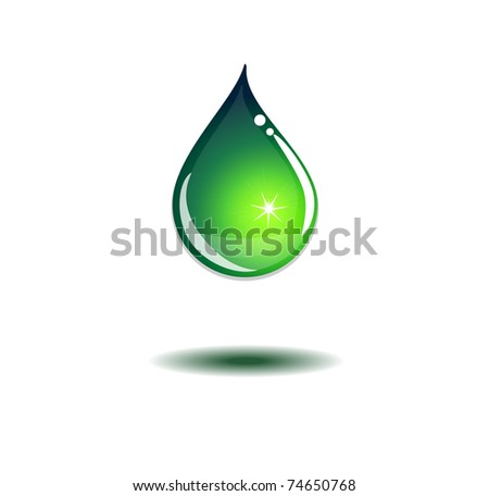 Bright water drop, 10eps - stock vector