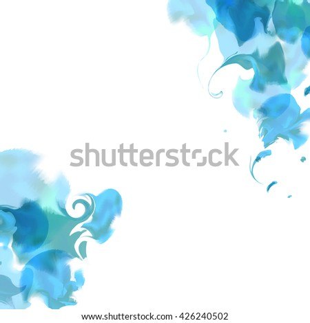 Bright watercolor background,smoke,steam, marble effect cover. Colourful template. Watercolor splatters. Vector