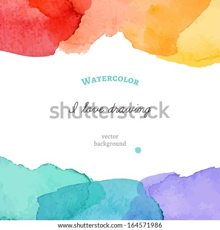 Bright watercolor background. Vector illustration - stock vector