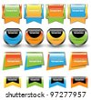 bright web elements pack - stock vector
