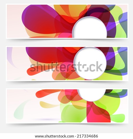 Bright web headers set - abstract liquid. Vector illustration - stock vector