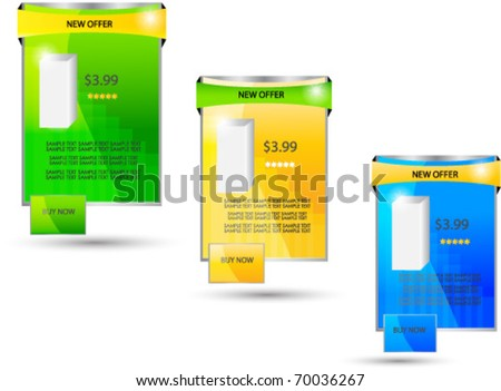 bright web sale banners - stock vector