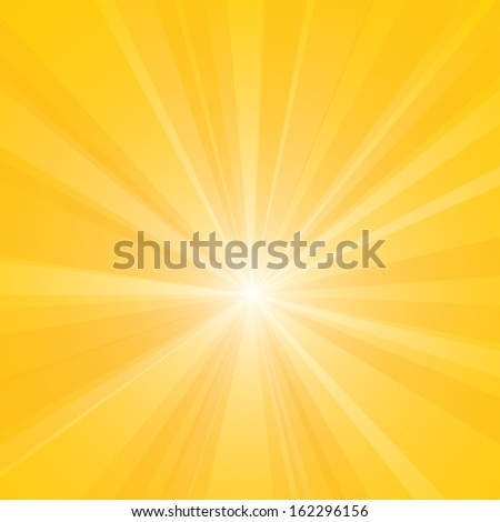 Bright yellow burst vector illustration. - stock vector