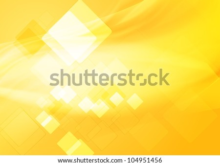 Bright yellow hi-tech background. Vector design eps 10 - stock vector