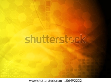 Bright yellow hi-tech background. Vector eps 10 - stock vector