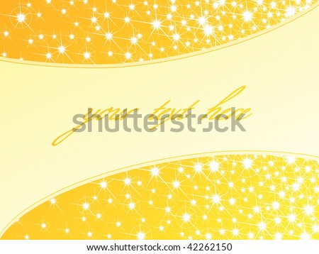 Bright yellow sparkly background, horizontal (vector); JPG version also available - stock vector