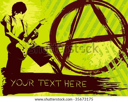 Brightly colored Punk Rock background (vector); a JPG version is also available - stock vector