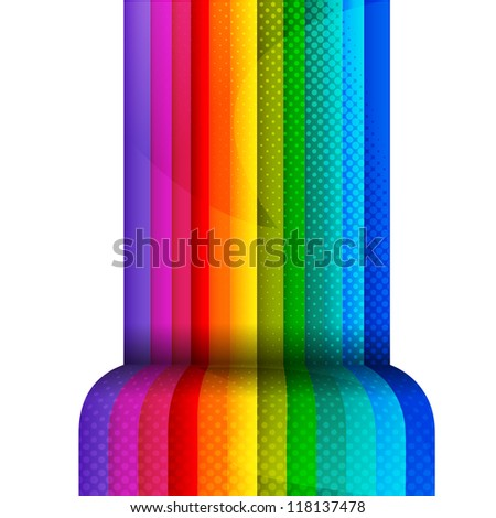 Brightly colored stripes with 3D effect