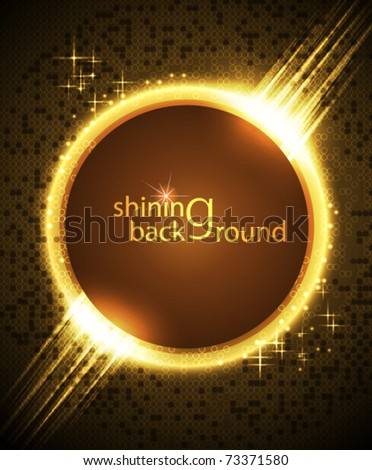 Brightly glowing background - stock vector