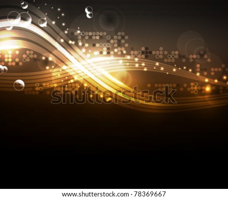 Brightly glowing background, EPS10 format - stock vector