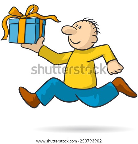 bring a gift - stock vector