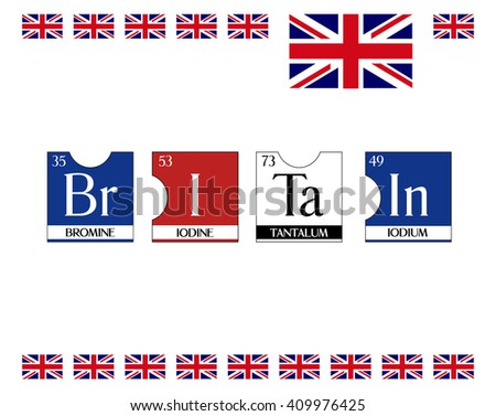 Britain text poster periodic table elements stock vector 409976425 britain text poster from periodic table elements illustration vector cool t shirt print urtaz Gallery