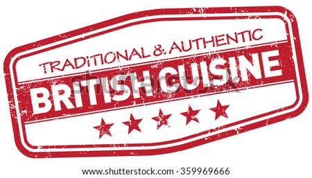british cuisine stamp - stock vector