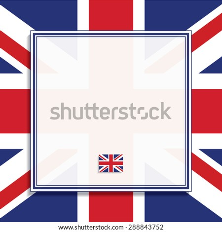 British Flag Frame Vector Illustration Stock Vector 288843752 ...