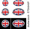 British Flag Buttons - stock vector
