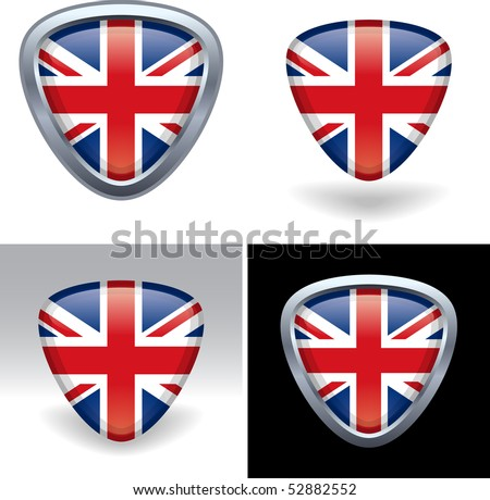 British Flag Crest - stock vector