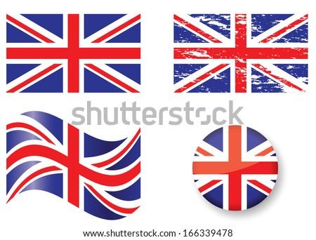 British Flag Set Stock Vector 166339478 - Shutterstock