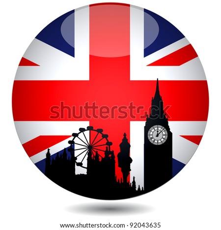 British Flag.Vector - stock vector