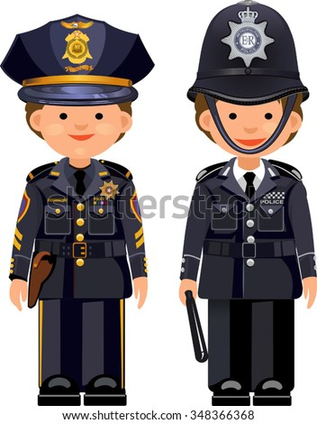 british metropolitan police officers usa nypd stock vector