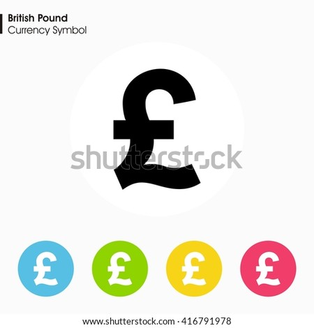 British Pound Sign Icon Money Symbol Vector Stock Vector 416791978