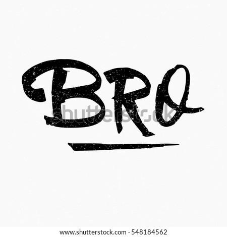 bro ink hand lettering modern brush stock vector royalty free