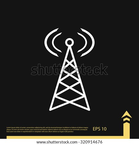 Broadcast Tower Vector Radio Tower Sto...