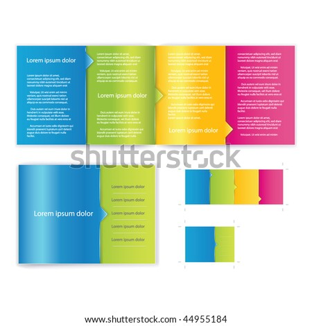 brochure booklet cover template vector for business artworks include print version