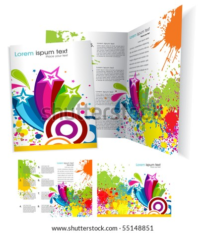 Brochure ( booklet ) cover template. Vector Illustration - stock vector