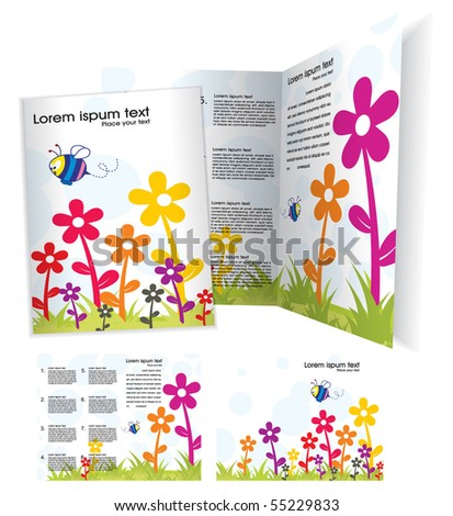 Brochure(booklet) cover template. Vector Illustration - stock vector