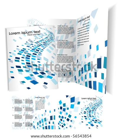 Brochure (booklet) cover template. Vector Illustration - stock vector