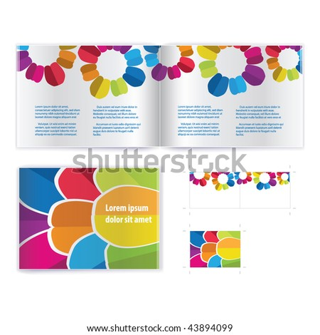 Brochure ( booklet ) cover template vector. Include print version - stock vector