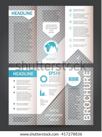 Brochure, Booklet & Flyer Layout Transparent Template. Vector illustration - stock vector