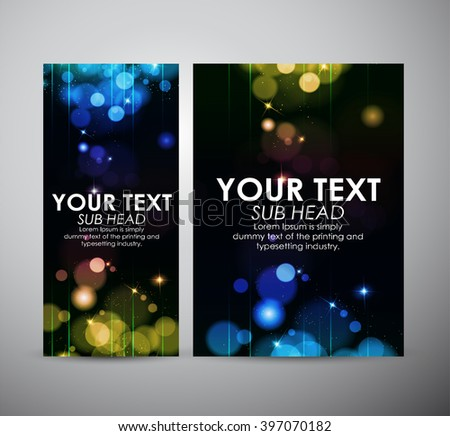 Brochure business design Abstract colorful bokeh background.