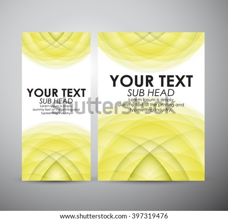 Brochure business design Abstract yellow Circle background.  - stock vector