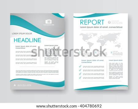 Brochure, corporate report, flyer, marketing. Design layout template in A4 size.