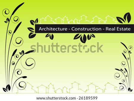 Brochure Cover - Business Card for architecture, construction, real estate company