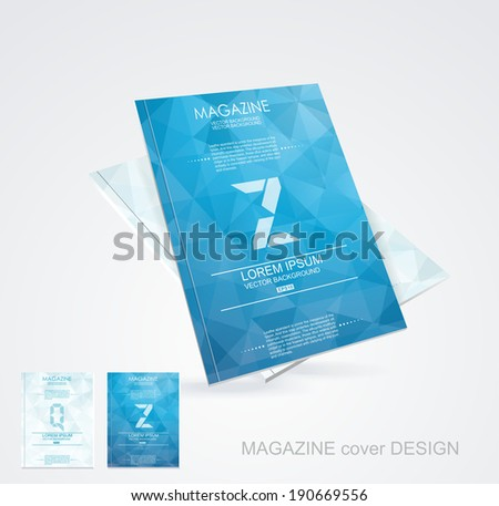 Brochure cover design vector template  - stock vector